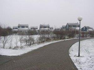 Het park bij sneeuw