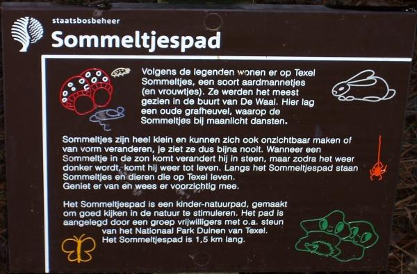 Het bord met uitleg over het Sommeltjespad